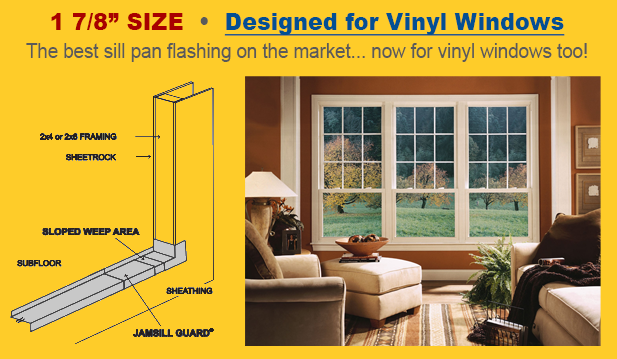 Jamsill Guard Door And Window Sill Pan Flashing