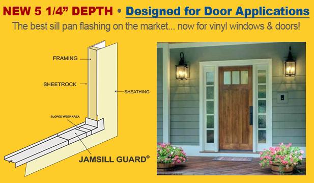 Jamsill Guard Door And Window Sill Pan Flashing